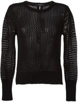 Unconditional mesh long sleeved top