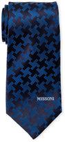 Missoni Blue Contrast Pattern Silk Tie