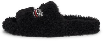 Furry Political Campaign Faux Shearling Slippers