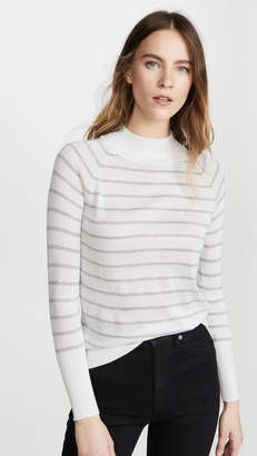 Chaser Striped Lurex Turtleneck Sweater