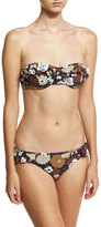 Michael Kors Ruffled Bandeau Two-Piece Bikini Set