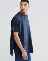 Asos Extreme Oversized Short Sleeve Sweatshirt With Side Splits