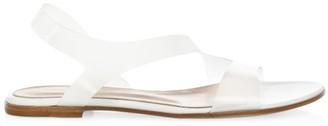 Gianvito Rossi Metropolis Flat PVC Slingback Sandals