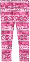 Joe Fresh Toddler Girls' All Over Print Legging, Dark Pink (Size 2)
