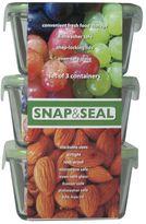 Artland snap & seal 3-pc. square storage set
