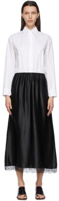 MM6 MAISON MARGIELA White and Black Shirt Slip Dress
