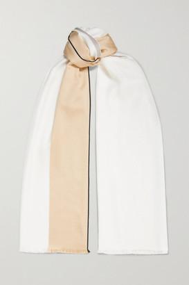 Loro Piana Balat Striped Cashmere And Silk-blend Twill Scarf - White