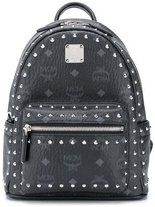 MCM Visetos print studded leather backpack