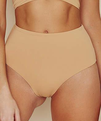 BEIGE Dippin' Daisy's Swimwear Women's Bikini Bottoms Nude Moderate-Coverage Seamless High-Waist Bikini Bottoms - Women