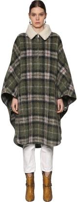 Etoile Isabel Marant Gabin Wool Blend Cape Coat