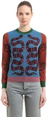 Gucci Double Snake Lurex Jacquard Sweater