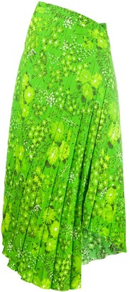 Balenciaga Twisted Pleats Skirt