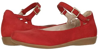 Earth Alma (Bright Red Soft Buck) Women's Flat Shoes