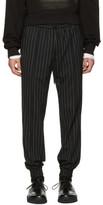 Juun.J Black Pinstripe Drawstring Trousers