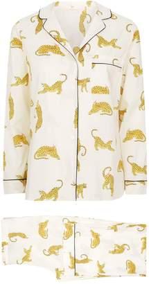 Yolke Leopard Print Pyjama Set