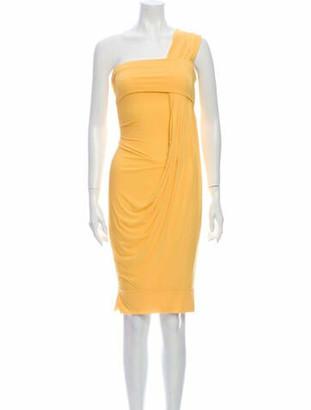 Donna Karan One-Shoulder Mini Dress w/ Tags Yellow
