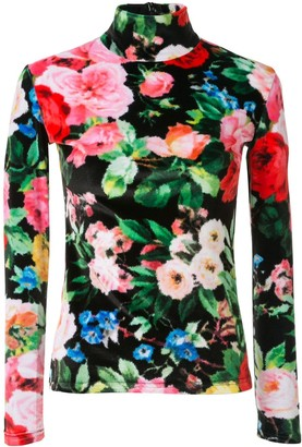 Richard Quinn Stretch Fit Floral Print Top