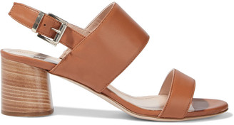 Iris & Ink Orchid Leather Slingback Sandals
