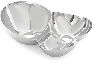 Nambe Pulse Chip & Dip Bowl