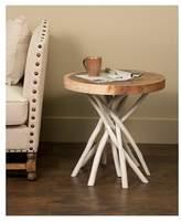 Jeffan Liberte Round Side Table With Stick Base - White