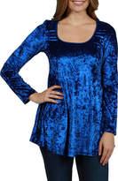 24/7 Comfort Apparel Ashley Velvet Maternity Tunic Top