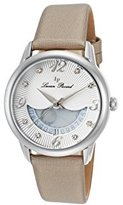 Lucien Piccard Women's 'Bellaluna' Swiss Quartz Stainless Steel and Leather Casual Watch, Color:Beige (Model: LP-40034-02-BGSS)