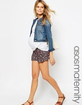 Asos Ditsy Floral Pleat Front Short