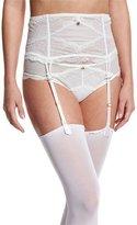Chantelle Présage Lace Garter Belt, Milk