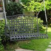 Three Posts Snowberry Iron Porch Swing