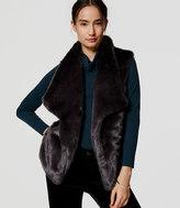 LOFT Petite Faux Fur Vest