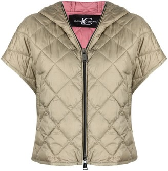 Luisa Cerano Quilted Shortsleeve Hooded Jacket