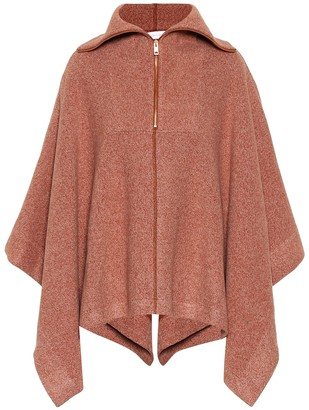 See by Chloe Ribbed cotton-blend cape