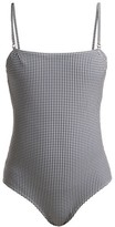 Belize - Luca Square-neck Gingham Swimsuit - Womens - White Navy
