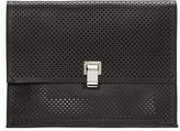 Proenza Schouler Black Perforated Large Lunchbag Clutch