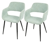 Lumisource Margarite Mid-Century Modern Dining Chairs (Set of 2)