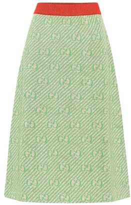 Gucci GG striped wool-blend skirt
