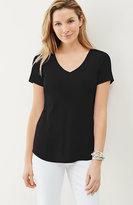 J. Jill Perfect Pima Short-Sleeve V-Neck Tee