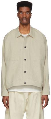 Jan-Jan Van Essche Beige Bamboo Cloth Jacket