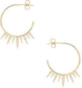 Shashi Arushi Hoop Earrings in Metallic Gold.