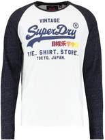 Superdry Shop Surf Long Sleeved Top Optic/midnight Blue Snowy
