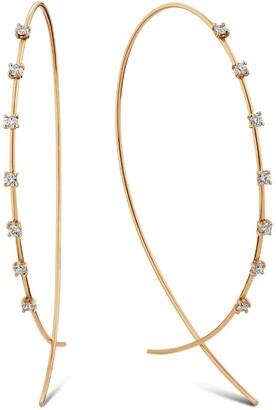 Lana Large Upside Down Diamond Hoop Earrings