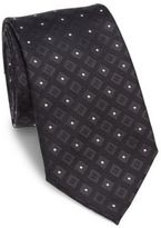 Armani Collezioni Diamond Grid Patterned Silk Tie