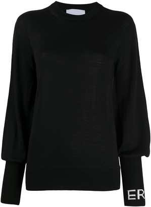 Erika Cavallini Blouson-Sleeved Logo Top