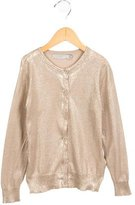 Stella McCartney Girls' Metallic-Accented Long Sleeve Cardigan