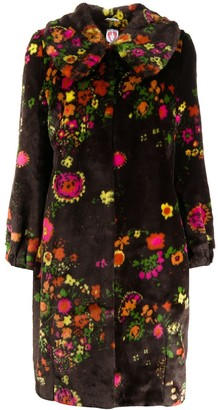 Shrimps Weston floral faux-fur coat