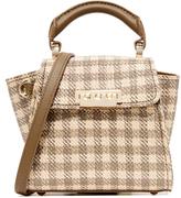 Zac Posen Eartha Gingham Straw Mini Top Handle Bag