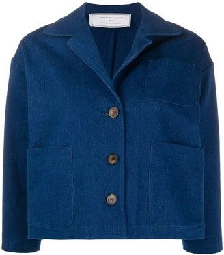 Societe Anonyme Cropped Sleeve Buttoned Jacket