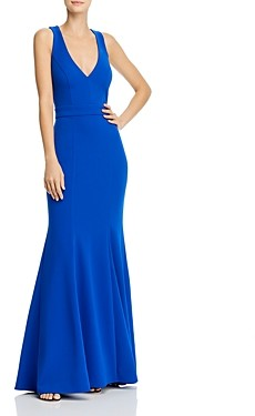 Aqua Crepe Bow-Back Gown - 100% Exclusive