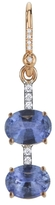 Irene Neuwirth Double Blue Sapphire and Diamond Single Earring