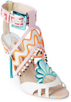 Sophia Webster White Nereida Nectarine Embellished High Heel Sandals